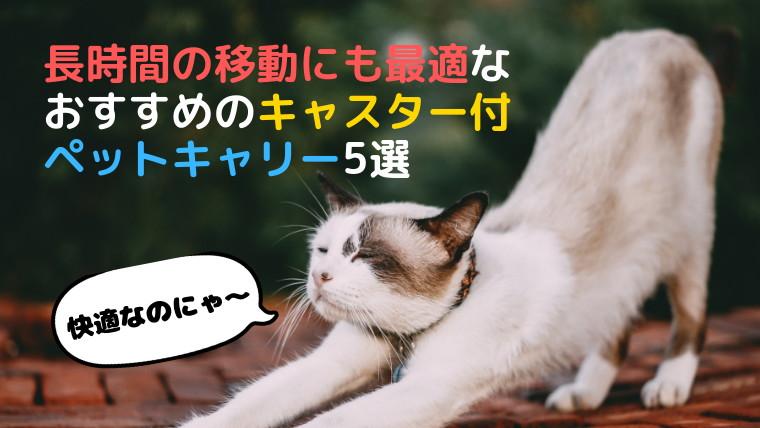 【コロ付きで移動楽々】長時間の移動にも最適なおすすめのキャスター付きペットキャリー5選【ペットカート】