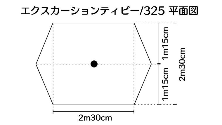 エクスカーションティピー/325平面図